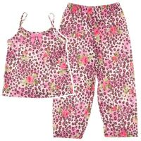 Laura Dare Rose and Leopard Print Pajamas for Girls Made in the USA