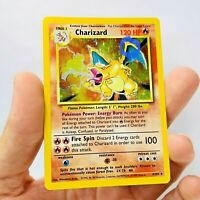 INK Misprint on WING 1999 Charizard Holo 4/102  Base Set Pokemon card WOTC