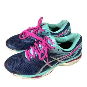 Asics Gel-Cumulus 18 Running Shoes Blue, Silver, Pink, Athletic shoes