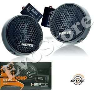Hertz DT 24.3 Coppia Tweeter 4 Ohm 80W Casse 24 mm + Crossover + Supporti