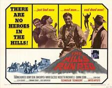 THE HILLS RUN RED Movie POSTER 22x28 Half Sheet Thomas Hunter Henry Silva Dan