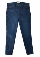 "Madewell 10"" Inch High Rise Skinny Dark Wash Stretch Jeans Womens Size 31 Petite"