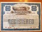 $10,000 New York Central Railroad Company Bond Stock Certificate NY