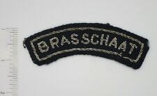 BRASSCHAAT BELGIUM BELGIAN POLICE Shoulder TAB PATCH Bullion Original Vintage