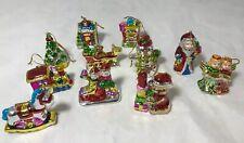 Miniature Ceramic Christmas Ornaments Vintage Set Of 11