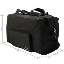 Black 38L Folding Travel Duffle Bag Foldable Holdall Bag Hand Luggage Gym Sport