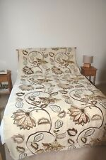 2.8 m Mulberry Home Anastasia Linen fabric browns greys embroidered RRP £360 p/m