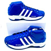 Adidas Mens Pro Model 2G Basketball Shoes Blue EF9820 Lace Up Mid Top 11.5 New