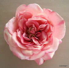 "5.5"" Variegated Pink Rose Silk Hair Clip,Pin Up,Updo,Rockabilly,Hat"