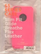 Elago Pink S5 Series iPhone 5/5s Phone Case Slim Fit Glide Breathe Flex Leather