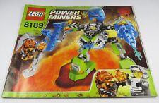 LEGO® Bauanleitung Instruction Nr. 8189 Power Miners™ Magmaläufer