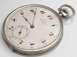 1930s vintage ETERNA CHRONOMETRE Coin Silver Pocket Watch - EXCELLENT CONDITION