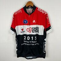 Mens Cycling Jersey 2XL Slim Multicoloured Short Sleeve Mock Neck