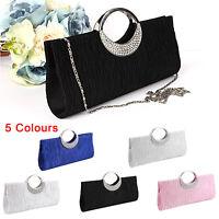 Women Evening Party Prom Clutch Bridal Bag Purse Ladies Wallet Handbag Diamante