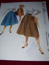 1955 McCALL'S #3341 - LADIES WONDERFUL POOF or FLARED SKIRT w/POCKETS PATTERN  6