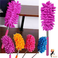 Microfiber Telescopic Extendable Duster Handle Clean Long Reach House hold Brush