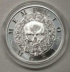 1oz Memento Mori Pirate Skull Silver Round Coin #3 Latin Allure Series