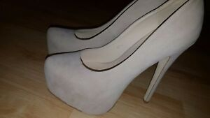 ESSEX GLAM  Look Patent Stiletto Heels Size UK 6 (EU 39)