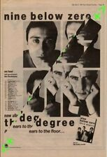Nine Below Zero Third Degree Tour Advert NME Cutting 1982