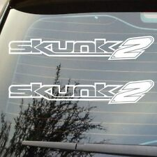 2 X BRAND NEW SKUNK2 SKUNK RACING JDM PERFORMANCE LOGO DECALS CHOICE OF COLOURS