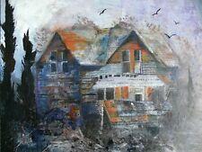 ASHTON MANOR Original Acrylic Painting Art Architecture Framed Shirley Hartley