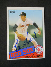 Bruce Hurst Boston Red Sox Autographed Signed 1985 Topps #451 EXMT+ 462