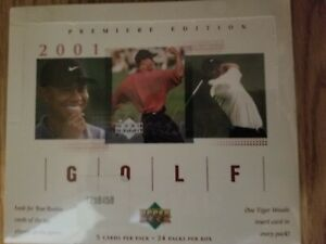 2001 Upper Deck Premier Edition Golf Factory Sealed  Hobby Box Tiger Woods RC