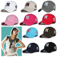 Black Baseball Hat New Women Bboy Yankees York Hip-Hop Cap Logo NY Mens