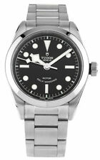 Tudor Heritage Black Bay 36 Black Dial Aged Leather Automatic Men's Watch 79500
