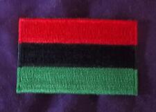 PAN-AFRICAN FLAG PATCH SMALL RASTA REGGAE RASTAFARIAN DIY