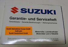 Original Suzuki Motorrad Roller LT Garantie + Service Scheckheft OHNE Einträge