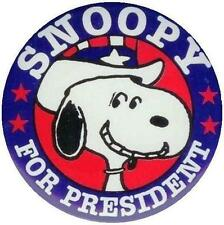 Peanuts # 17 - 8 x 10 Tee Shirt Iron On Transfer Snoopy for President