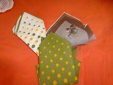 neuf ,lot 3mouchoirs pochettes ,homme ;femme  teintes verdatres