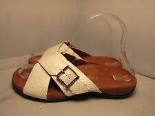3998eba17ebe Vionic w  Orthaheel Womens 6 Dorie White Reptile Snake Crisscross Slides  Sandals