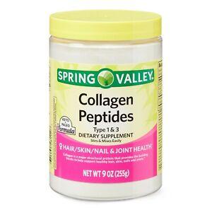 Spring Valley Collagen Peptides Powder, Type 1 & 3, 9 oz.