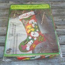 Sealed Paragon Toyland Needlepoint Christmas Stocking Kit 6277 Santa Frosty