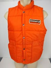 "Vintage 80s Mens Swingster Button Front Puffer Vest ""StarCraft"" Patch Size Large"