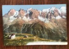 Chamomix Plan Praz et La Chaine des Aguilles Unused, Old Postcard (early 1900s)