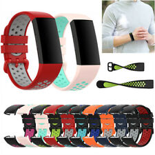 For Fitbit Charge 3/4 Watch Band Replacement Silicone Breathable Wrist Bracelet