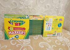 Crayola Markers Broad Line 8 Packages of 10 Markers Each; Assorted Colors Nib !