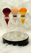 Wine Glass Makeup Brush Trio. Makes an Excellent Gift for Yourself or Others!