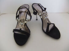 Pleaser Luxe Jewel 16 Black Sandal Heels Size 8 Holiday Dressy Formal Sexy