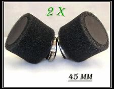 2x 45mm Dual Foam Pod/Air Filter/Cleaner Dirt/Pit Quad /ATV Bike Buggy Go Kart