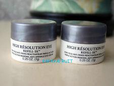 $60 value Lot 2 x Lancome HIGH RESOLUTION EYE REFILL-3x Cream jars .5 oz total