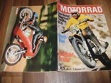 MOTORRAD vom 12.12.1970 -- TEST: YAMAHA DS 6 / SCOTT-TRIAL / BSA Triumph Twin
