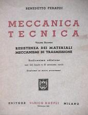 MECCANICA TECNICA Vol II Resistenza dei materiali Benedetto Feraudi Hoepli di e