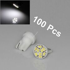 Wholesale 100 X T10 194 Car White 9 SMD 1206 LED Car Signal Side Light Bulb Lamp