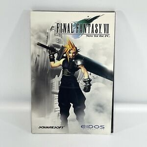 Final Fantasty VII for PC - 4 Disks, Manual & Trifold - Squaresoft Eidos Tested!