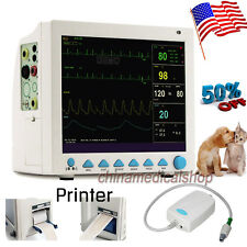 US Seller Multi-parameters veterinary patient monitor animal use ETCO2 & Printer