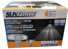 Sunforce solar Triple cabeza activado movimiento seguridad luz 1500 Lumens pre